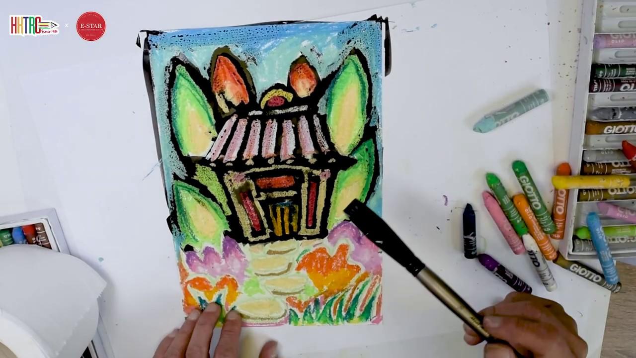 【E-star Art & Write x HKTRC】油粉彩十二技法之排水法 #03 - YouTube
