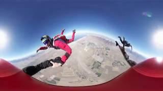 Skydive Utah in Virtual Reality (330) - 3-Way Belly Walking Accordion