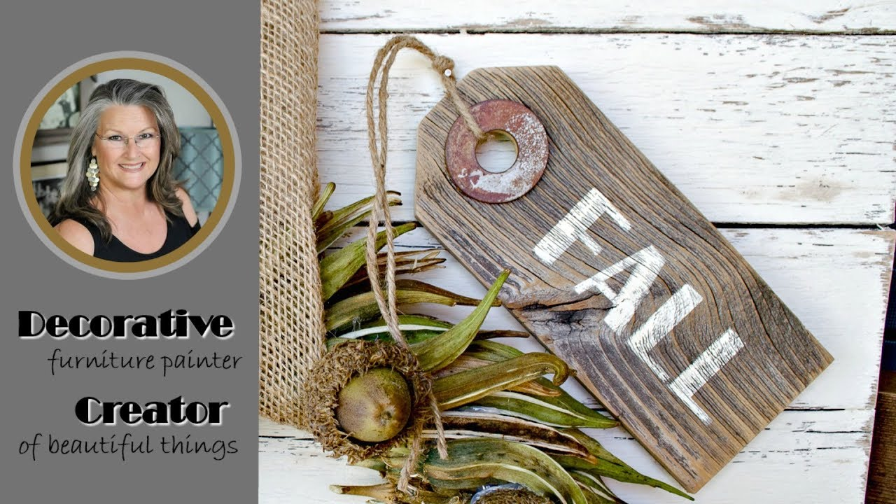 DIY Rustic Wooden Tags