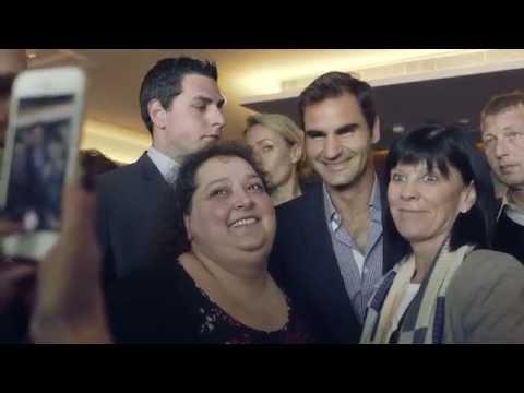 Credit Suisse Genève. Visites Exclusives. Roger Federer rencontre les collaborateurs