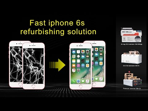 How to repair the iphone 6s broken LCD screens with cold press framed glass by vacuum OCA laminating