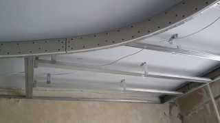 как правильно сделать овальный потолок из гипсокартона