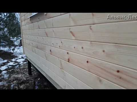 Имитация бруса 20х145х6 как выглядит на доме