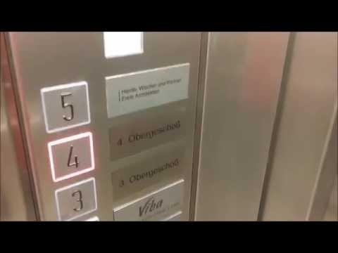 ELT MRL traction elevators at Altmarkt Galerie mall, Dresden, Germany