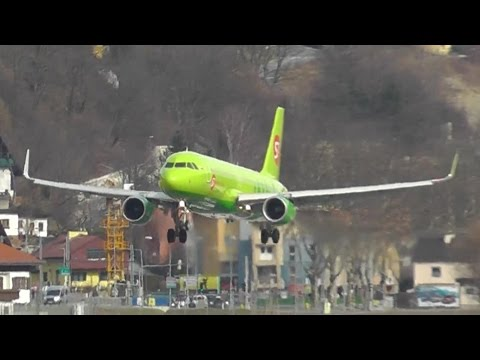 S7 Siberia Airlines Airbus A320-214WL [VP-BOL] landing at Innsbruck airport