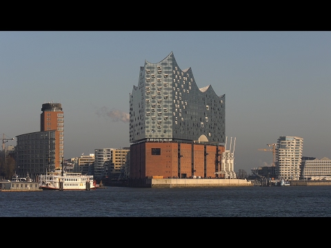 Hamburg, Germany: Hafen (Harbor), HafenCity, Elbphilharmonie - 4K UHD Video Image (2160/50p)