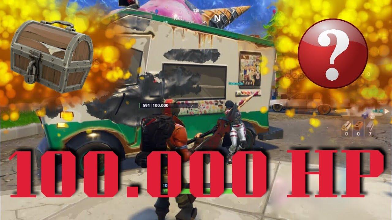 Camion Dei Gelati 100000 Hp Fortnite Ita Youtube