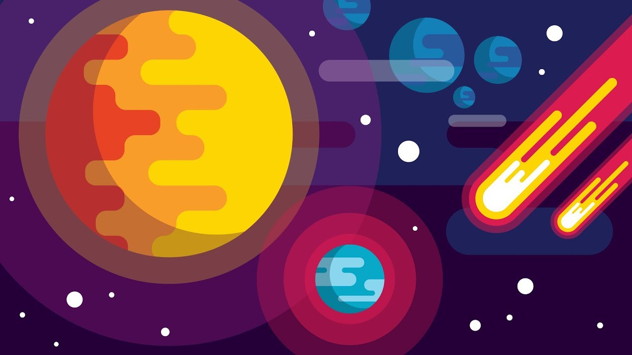 Wallpaper Illustration Graphic Design Roar Movie: How To Draw A SPACE BACKGROUND
