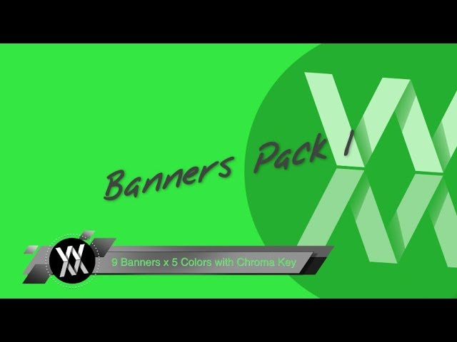 Chroma Key - Banners Pack 1