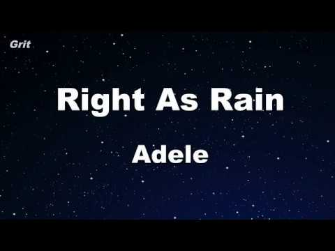 Right As Rain - Adele Karaoke 【No Guide Melody】 Instrumental