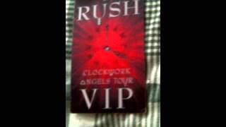 Rush Clockwork Angels Tour 2012 VIP Commemorative Tour Laminate Thumbnail