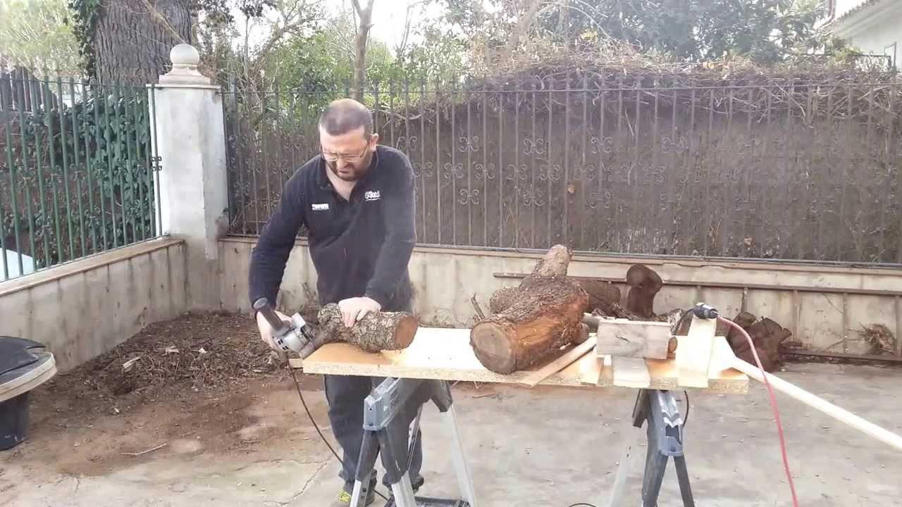 Disco cortar madera con amoladora youtube for Cortar madera con radial