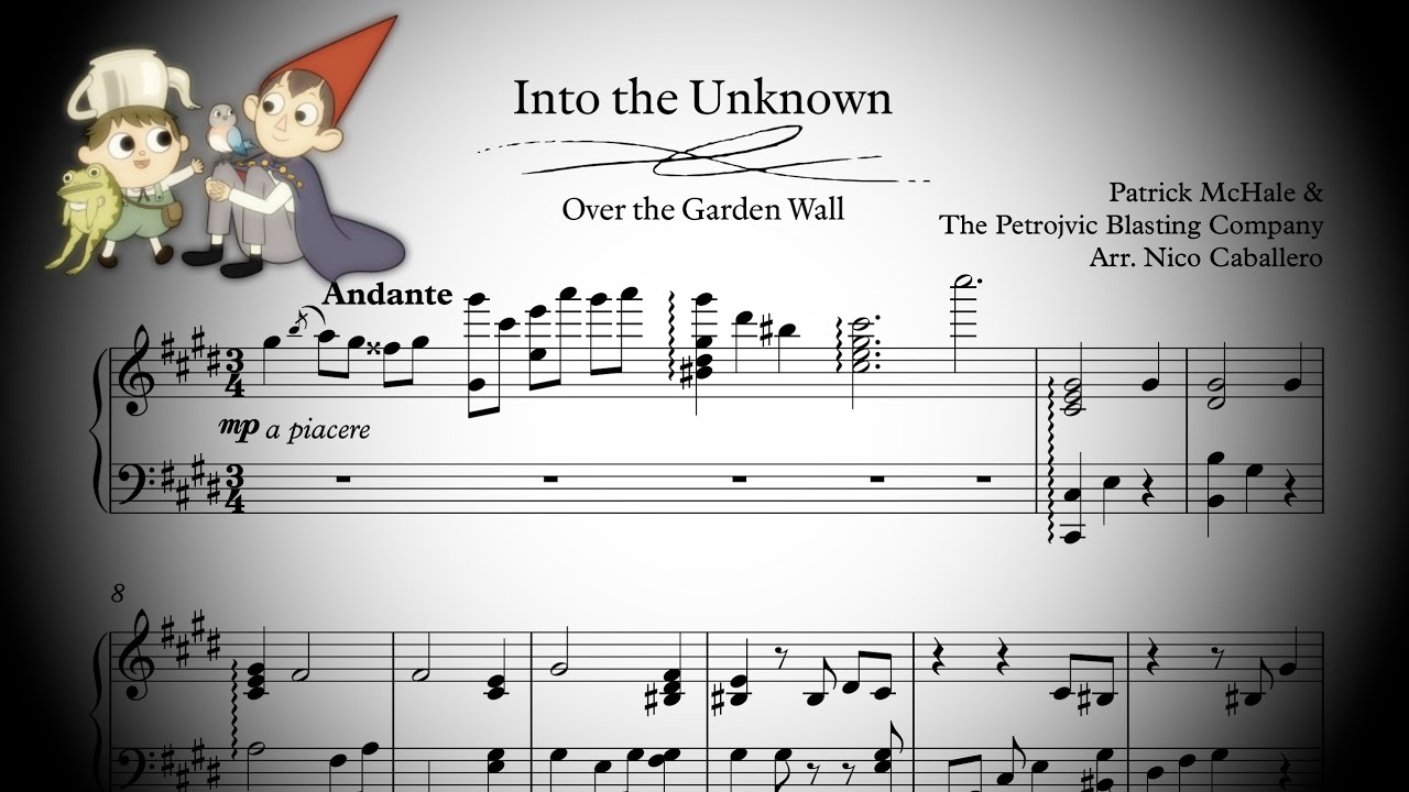 Over the garden wall into the unknown piano sheet music - Watch over the garden wall online free ...