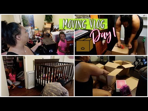 I'm Finally Packing! Moving With 4 Kids Day 1 Vlog!