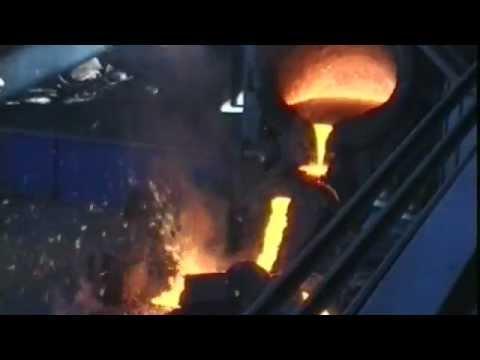 Stahlerzeugung im Stahlwerk