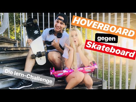 Hoverboard gegen Skateboard mit Mavie & Prince Damien - VLOG