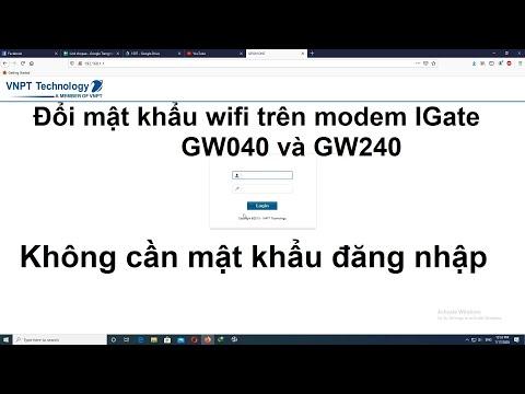 phần mềm hack mật khẩu wifi cho máy tính - Đổi mật khẩu wifi VNPT trên modem Igate GW240 Igate GW040 khi không biết mật khẩu quản lý