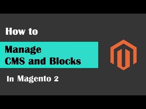 Magento 2 Tutorial Lesson #8 Management of CMS | Content Pages Block and Theme configuration
