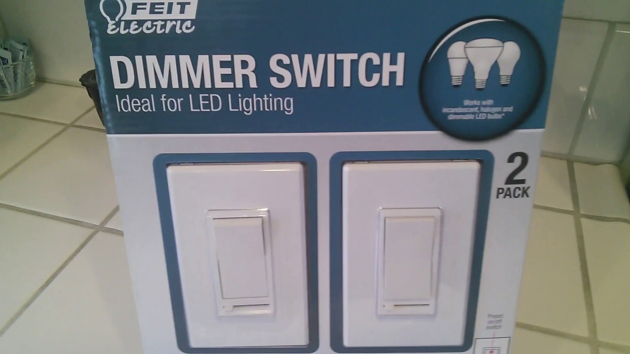 FEIT ELECTRIC DIMMER SWITCH ( 2 PACK WITH EXTRAS) UNBOXING on