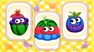 Baby Play & Learn Names Of Fruits Vegetables With Funny Food Children Games