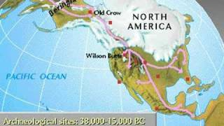 Archaeological sites in North America; 38,000 - 15,000 BC