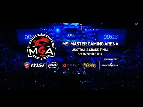 MSI Master Gaming Arena,Australia PAX2016 Trailer