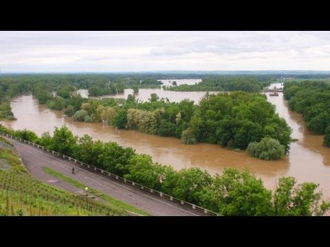 Povodně 2013 Mělník - soutok Labe a Vltavy