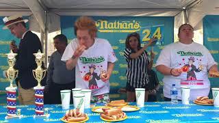 【⚠️閲注、早食い】ホットドッグ『ネイサンズ』の予選にチャレンジしてきた〜Nathan's hot dog eating contest 2018【MAX鈴木】【マックス鈴木】【Max Suzuki】 thumbnail