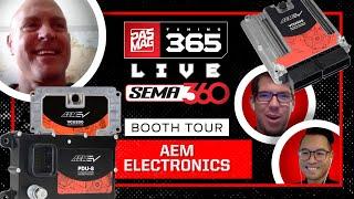 PASMAG Tuning 365: SEMA360 Booth Tour - AEM Performance Electronics