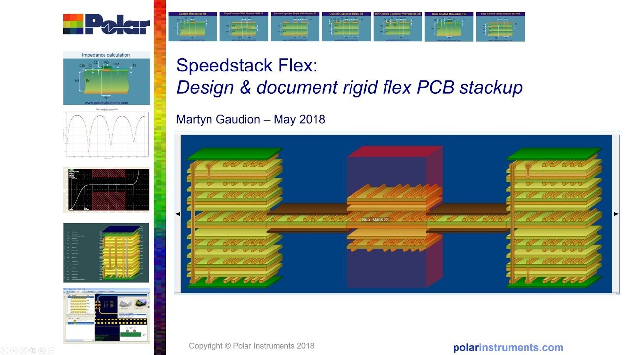 Speedstack Flex PCB layer stackup design tool