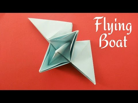 Flying Boat - DIY Origami Tutorial by Paper Folds - 681