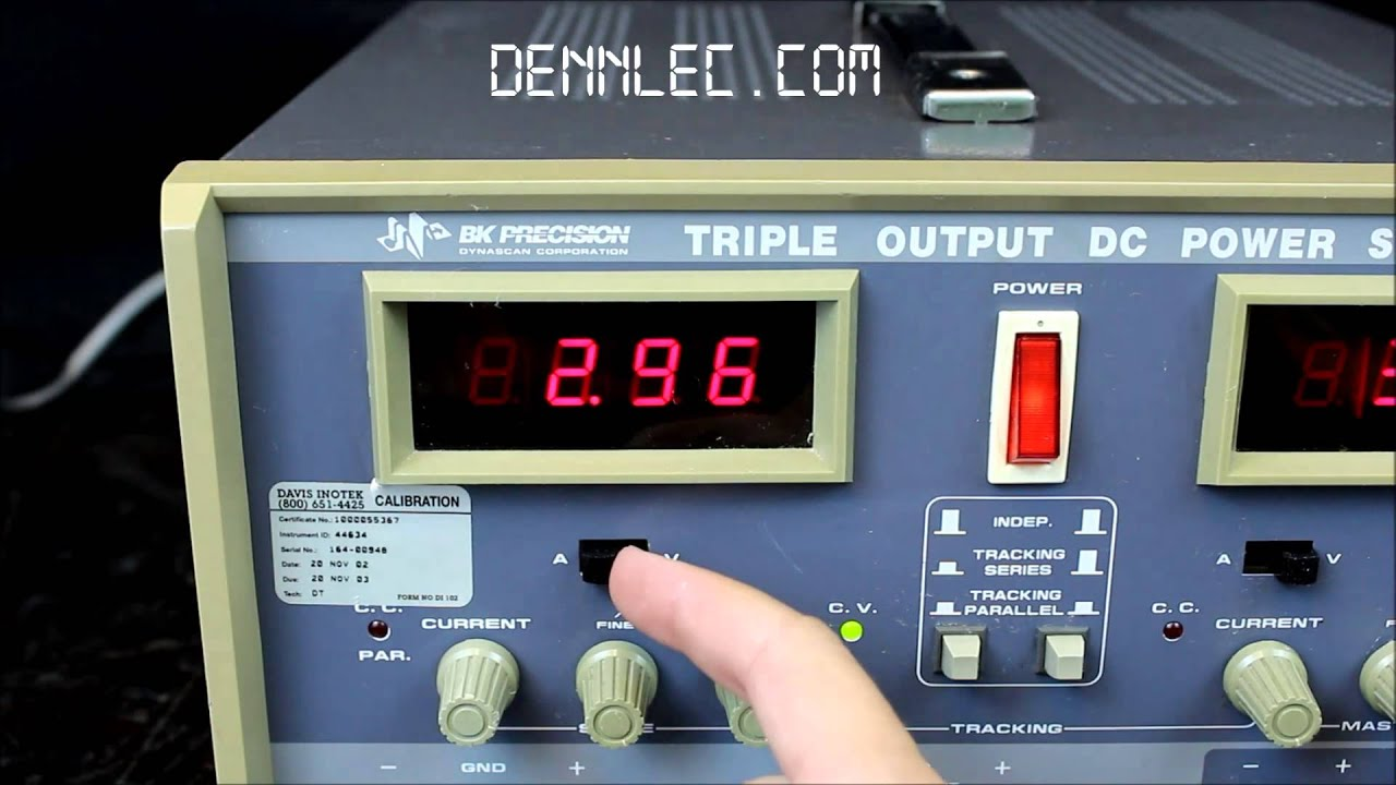 Bk 1660 Triple Output Dc Power Supply Youtube