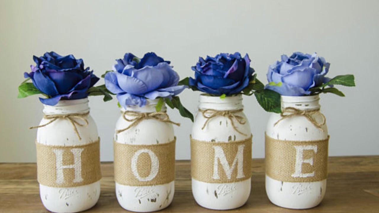 Diy Shabby Chic Upcycled Mason Jars Diy Ideas Home Decor And