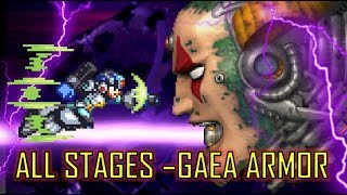 Mega Man X5 -  GAEA Armor Walktrough ~ All Stages (Xtreme Mode)