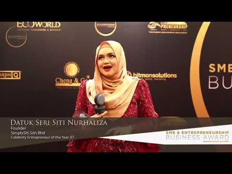 Datuk Seri Siti Nurhaliza - Celebrity Entrepreneur of The Year (F)