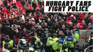 England - Hungary fans fight Police