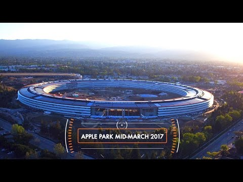 Flyover reveals Apple Park is still dirty ahead of April opening