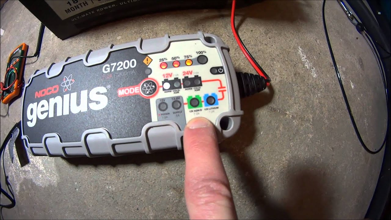 noco genius g7200 battery charger charge and repair a battery [ 1280 x 720 Pixel ]