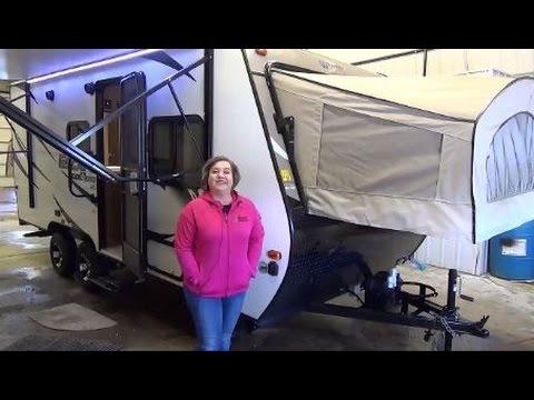2017 KZ RV Escape E180RBT Travel Trailer 3 bunk hybrid in our