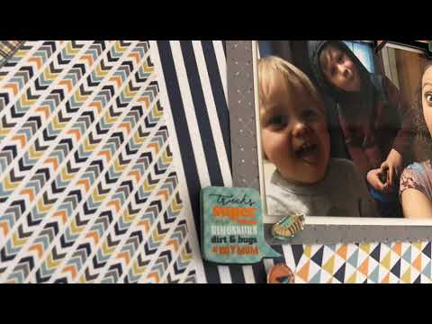 12x12 Scrapbook Layout Using Only A 6x6 Paper Pad