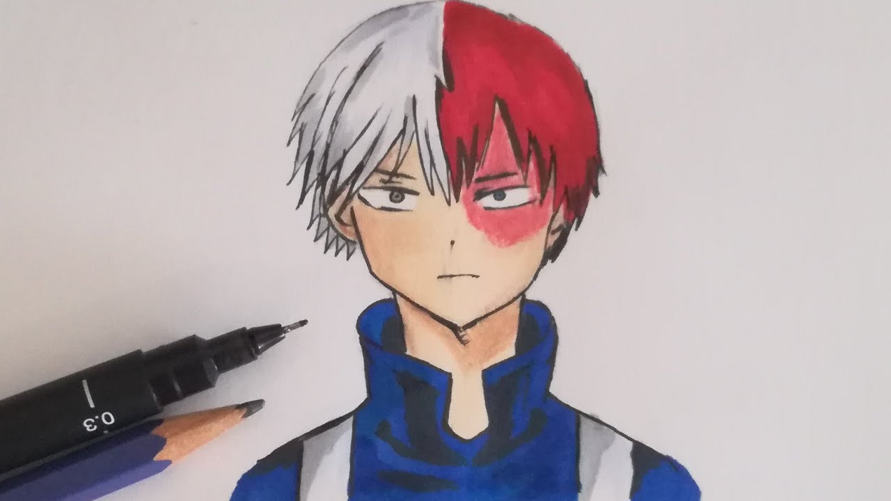 How To Draw Shouto Todoroki Boku No Hero Academia Easy