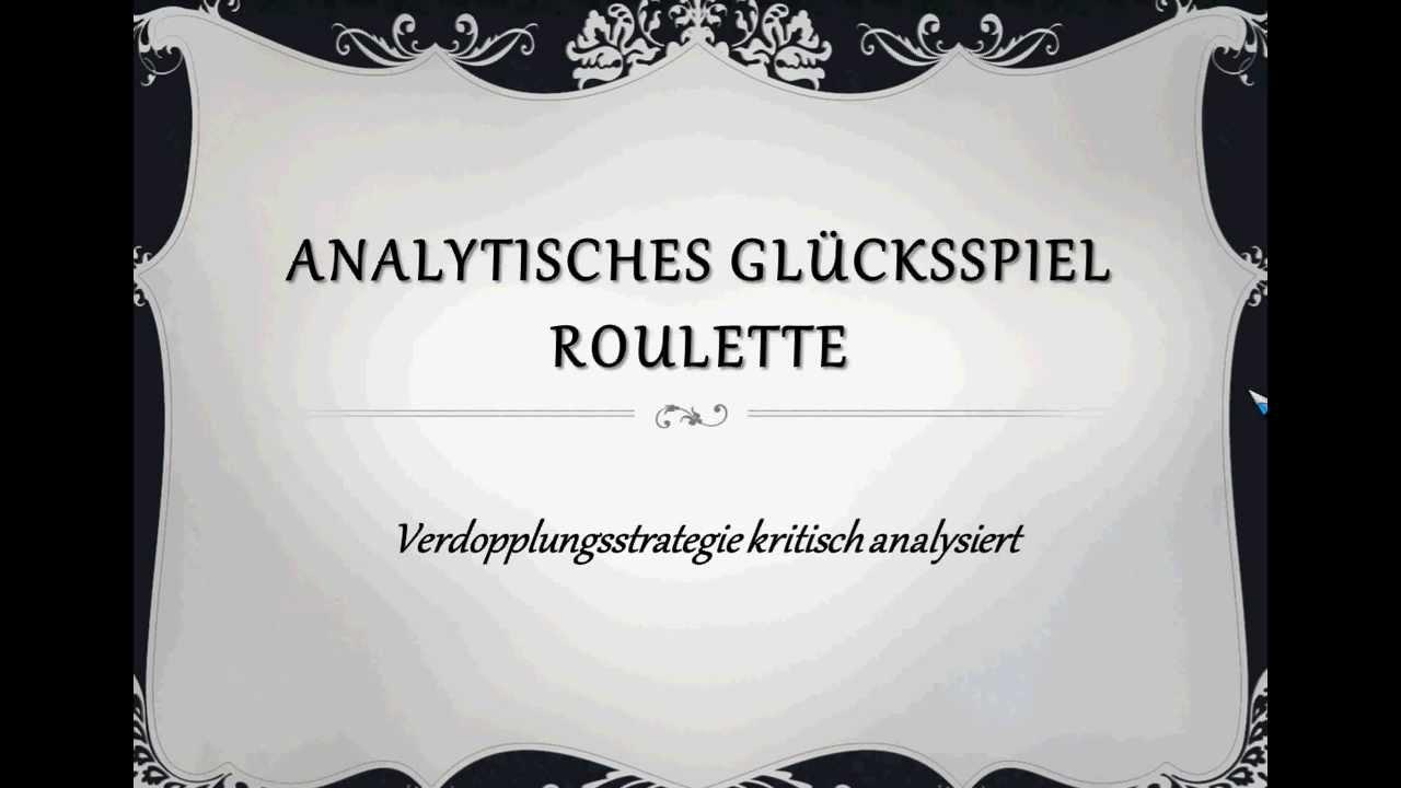 Roulette Verdopplungsstrategie