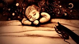 Рисование песком - очень красиво (про деток) -  Amazing sand art - MUST SEE!