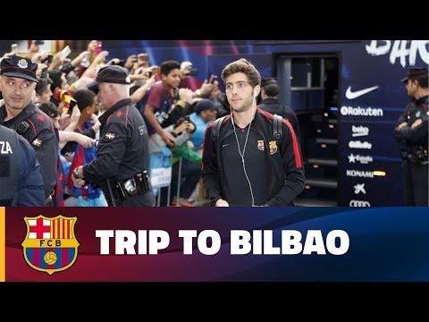 FC Barcelona lands in Bilbao