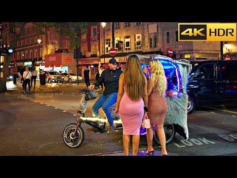 London Walk at 3 am 💃🕺What happens after party😉London West End nightlife [4K HDR]