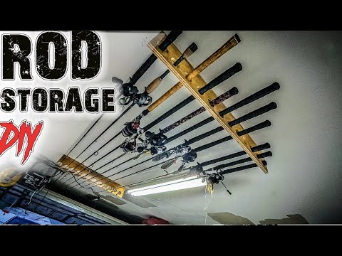Download Rod storage made EASY! Building Cheap rod storage in small garage.