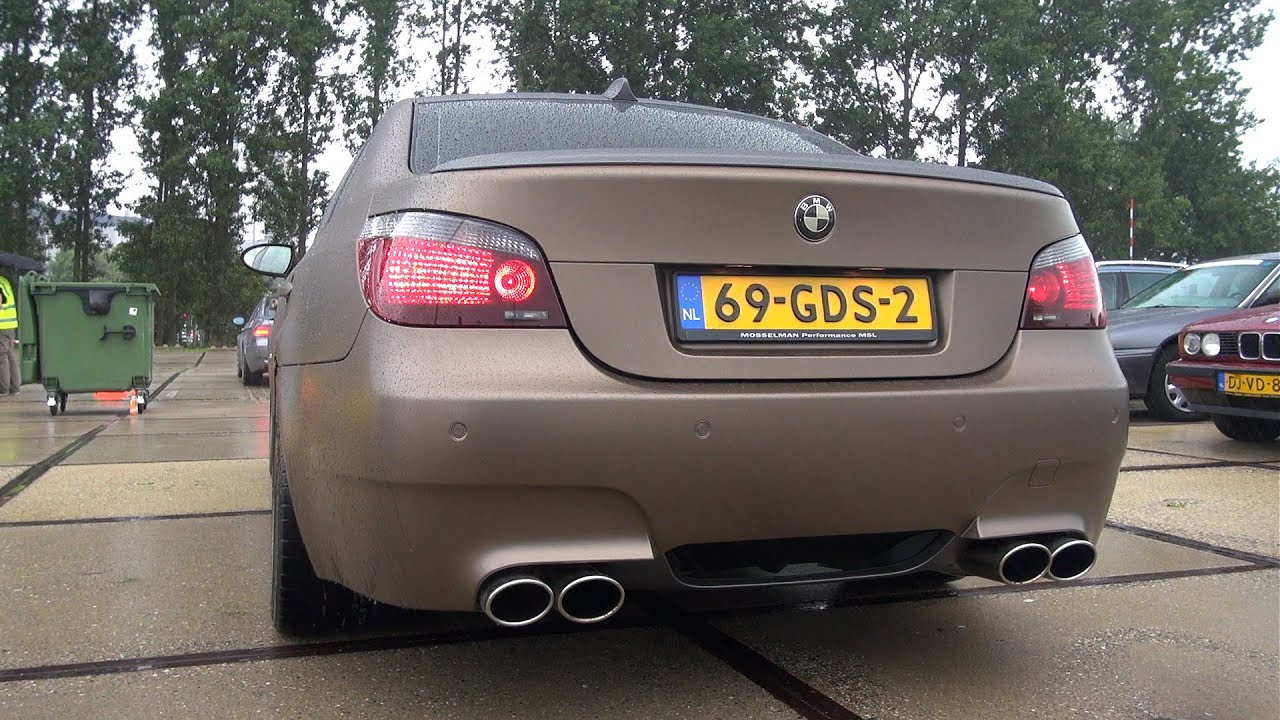 Bmw M5 V10 W Custom X Pipe Hms Exhaust System Youtube