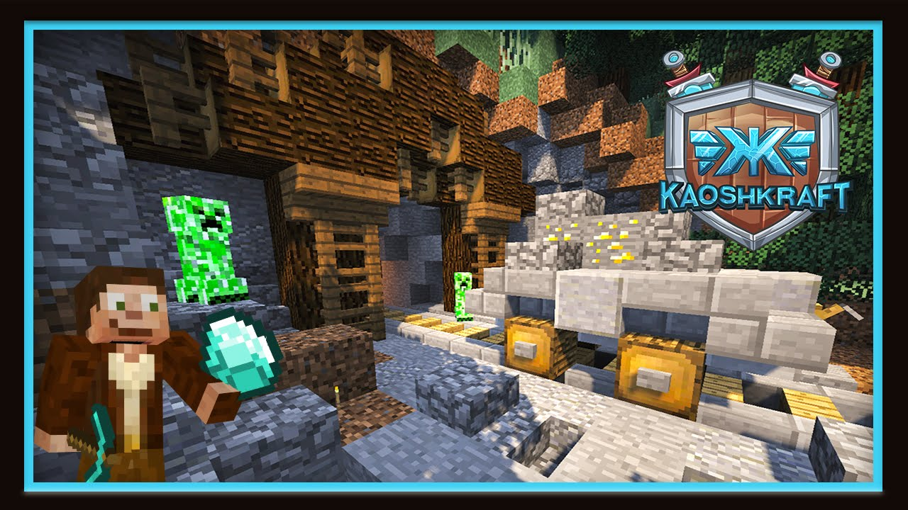 Minecraft Tutorial Mineshaft For A Diamond Mine With