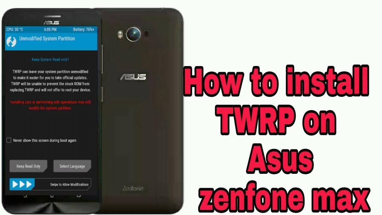 How to install twrp on Asus zenfone max8916 , within 2mint,Easy step