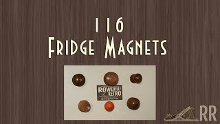 Fridge Magnets Woodturning - 116